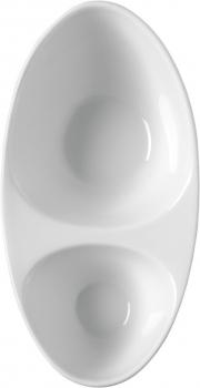 Тарелка глубокая двойная 19 x 9,5 x 6,5 cm. 80 + 240 cc.