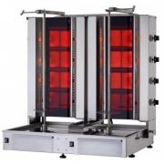 Гриль для шаурмы электрический со стеклянной стенкой Kayalar KLG-224-TG /4+4